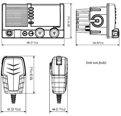 Cobham SAILOR 6216 VHF DSC Class D – FCC