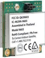 Iridium 9603 SBD Transceiver Module