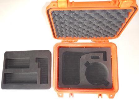IsatPhone 2, PRO Grab and Go Hard Case, houses SatPhone and Starpak Antenna, Safety Orange