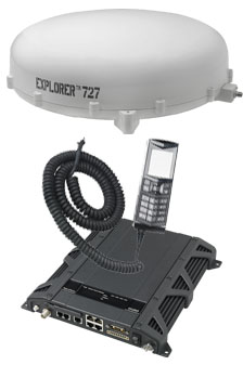 Cobham Explorer 727 BGAN In-motion Satellite Terminal, with White Antenna