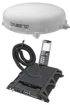 Cobham Explorer 727 BGAN In-motion Satellite Terminal, with White Antenna