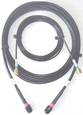 Iridium STARPAK Cable Kit, 1x RG316 and 1x LMR195UF, 3.0m(118in) Gold SMA-Male connectors