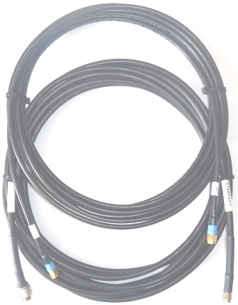 Iridium STARPAK Cable Kit, 1x LMR195UF and 1x LMR240UF, 6.0m(236in) Gold SMA-Male connectors