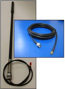 IRIDIUM Pivotel Bull Bar antenna, 5.5m(18.0ft) cable, TNC-Male