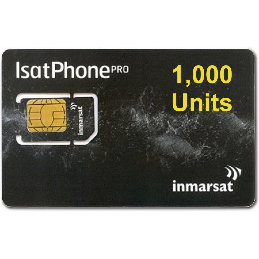 IsatPhone 2, PRO, Link PREPAID 1000 unit SIM CARD, 360 day validity