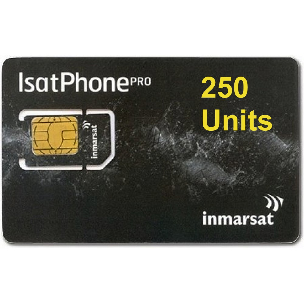 IsatPhone 2, PRO, Link PREPAID 250 unit SIM CARD, 180 day validity
