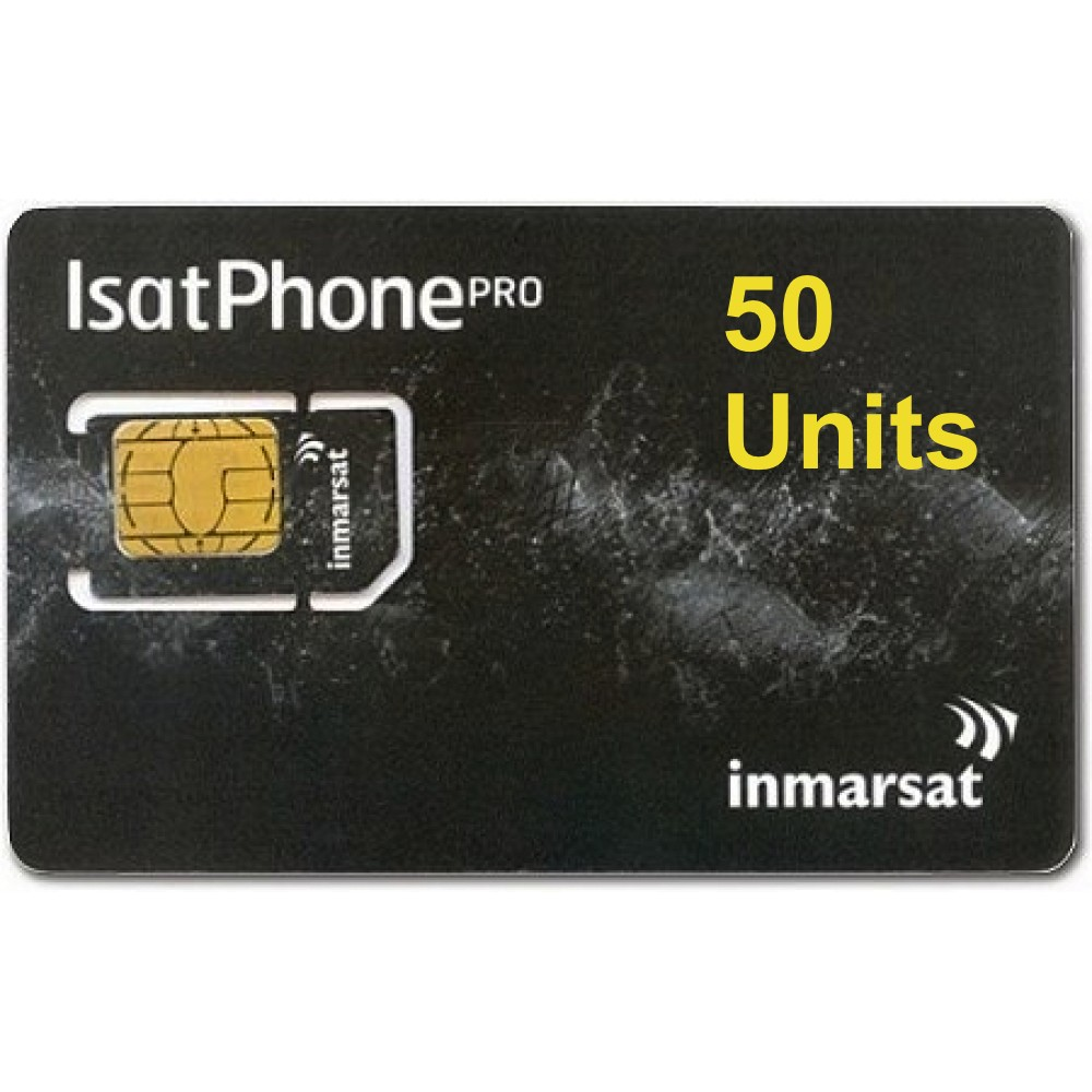 IsatPhone 2, PRO, Link PREPAID 50 unit SIM CARD, 90 day validity