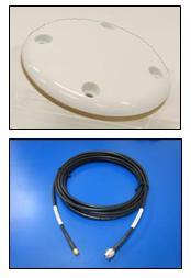 IRIDIUM Pivotel large patch antenna, 6.0m(19.6ft) cable, TNC-Male