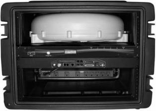Cobham Explorer 727 BGAN Satellite Terminal, 19in Rack Mount Ver. with White Antenna