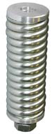 iridium STARPAK Antenna Spring Mount, 1/2in-12 BSW thread, 107x37diax107mm, Heavy Duty