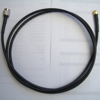 Iridium STARPAK Cable, 3.0m(118in) LMR195UF, SMA-female to TNC-male, passive
