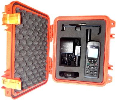 Iridium 9555 Grab and Go Bundle, Safety Orange, Includes SatPhone